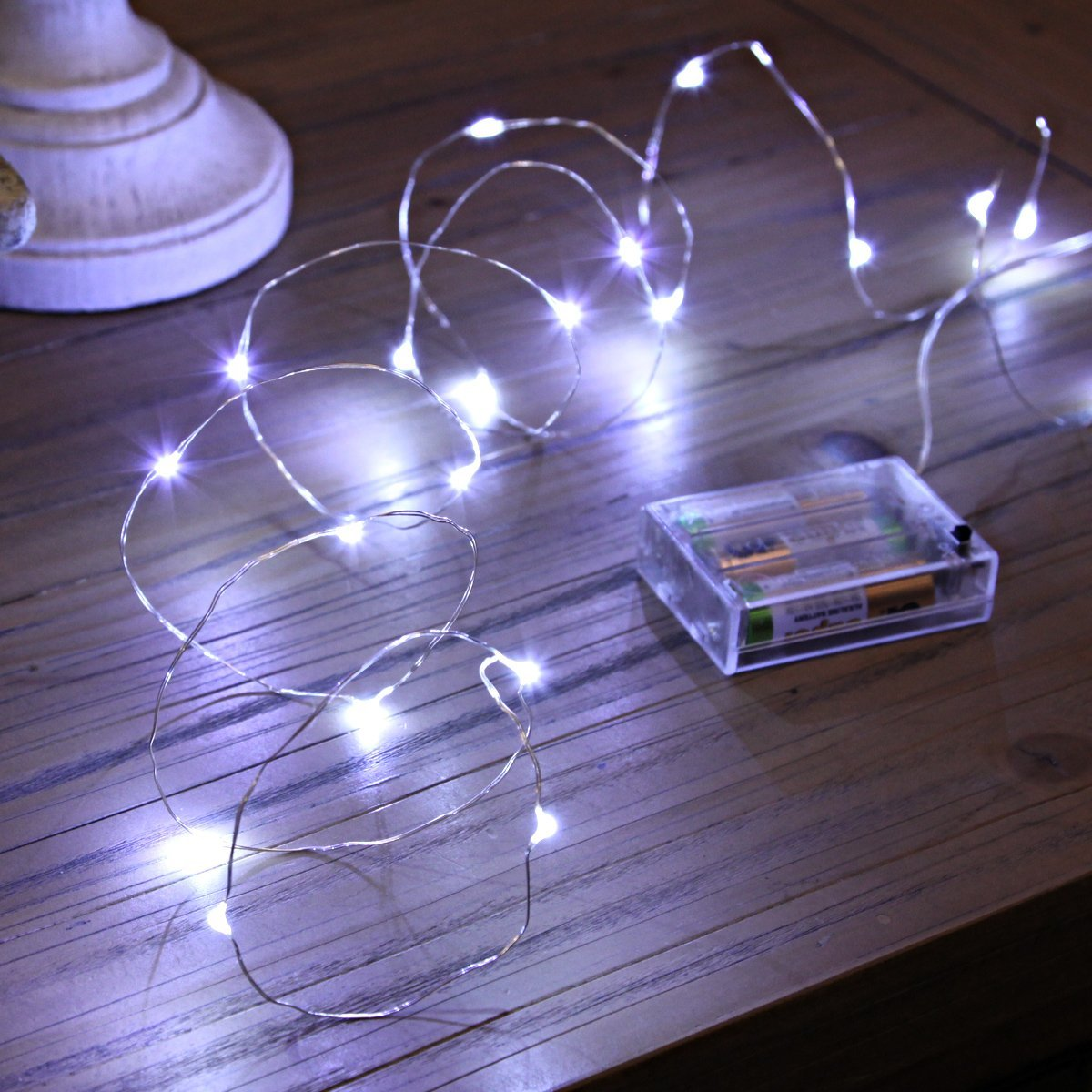 20 micro led battery operated fairy lights silver wire. Black Bedroom Furniture Sets. Home Design Ideas