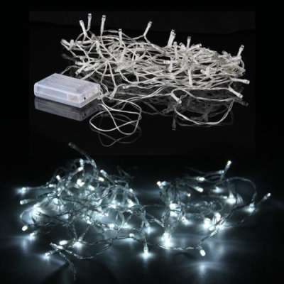 80 white led battery fairy lights on