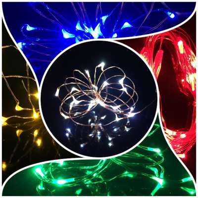micro LED fairy lights red blue yellow green white