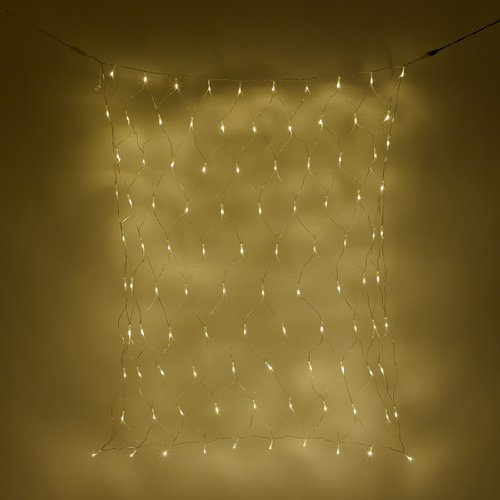 300 white led connectable net lights battery operated. Black Bedroom Furniture Sets. Home Design Ideas