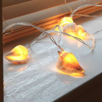 sea shell battery operated fairy lights LED