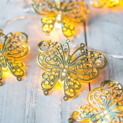LED fairy lights battery operated butterfly lights