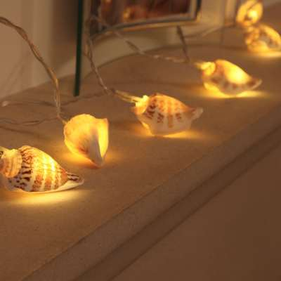 Sea shell fairy lights