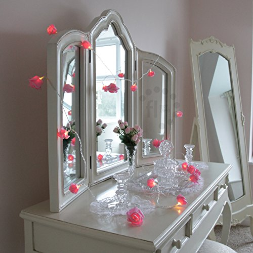 Battery-Operated-Pink-Rose-Bedroom-Fairy-Lights-with-Timer ...