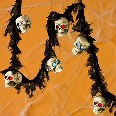 spooky skull halloween and pirate fairy lights battery operated realistic
