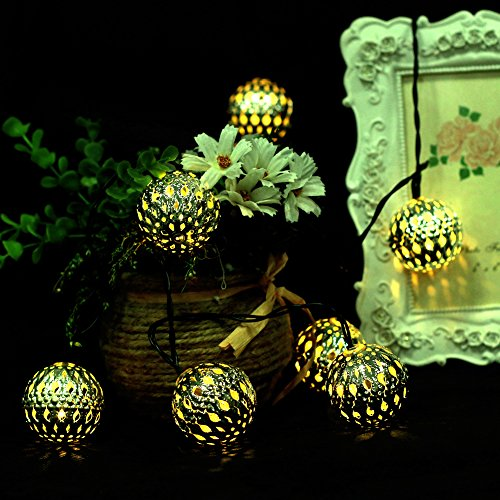 Moroccan-Metal-Solar-Battery-Powered-Xmas-String-Light-LED-Ball-0-2 - Battery Operated Fairy Lights