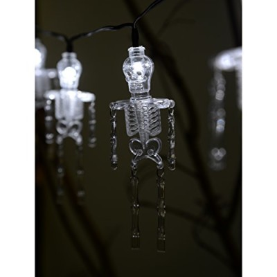 skeleton fairy lights battery powered halloween decoration