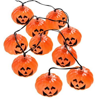 Batery operated halloween fairy lights with pumpkin decorations