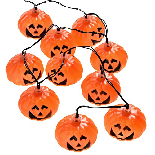 10 Orange Pumpkin Fairy String Lights Halloween Decoration