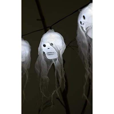 Ghost skull string lights battery operated halloween and pirate party decoration