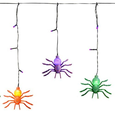 Icicle spider fairy lights battery operated Halloween decorations