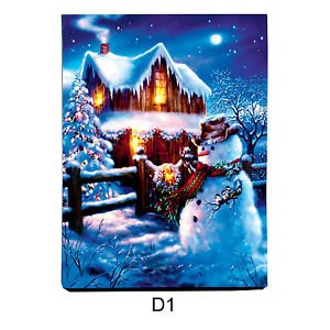 Christmas Led Canvas.75 Off Christmas Led Canvas Fine Print With Lights Festive
