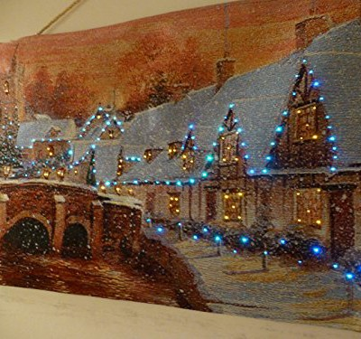 Christmas wonderland tapestry decoration led lights and battery powered