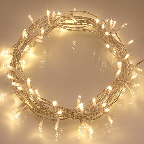 Remote Timer 40 Led Outdoor Fairy Lights 8 Modes Battery Operated String Lights 120 Hours